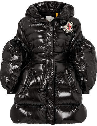Simone Rocha Moncler Genius - 4 Belted Sequin-embellished Quilted Shell Down Coat - Black
