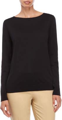 Lafayette 148 New York Black Boatneck Sweater