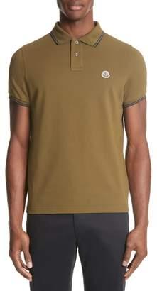 Moncler Striped Collar Polo Shirt