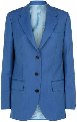 Burberry Wool-Mohair Tailored Jacket