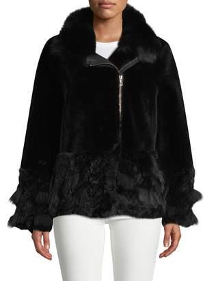 Blue Duck Fox, Lamb & Rabbit Fur Coat