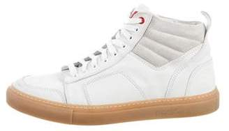 Del Toro Leather & Suede High-Top Sneakers