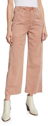 Amo Denim Army Wide-Leg High-Waist Cropped Jeans