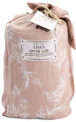 Linen Floral Print Duvet Set