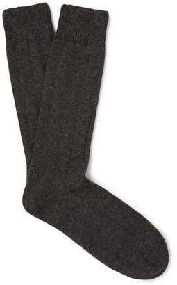 Anderson & Sheppard Mélange Merino Wool-Blend Socks