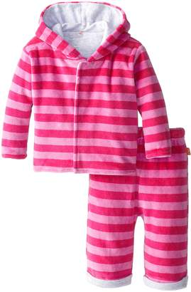 Magnificent Baby Baby-Girls Infant Berry Velour Hoodie and Pants, Hot Pink