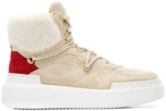 Buscemi shearling cuff high-top sneakers
