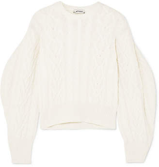 Cable-knit Wool Sweater - Cream