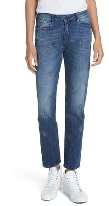 BROCKENBOW Orphee Jeweled Slim Straight Jeans
