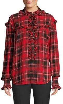 Polo Ralph Lauren Ruffled Plaid Shirt