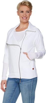 Peace Love World Amal Jacket with Asymmetric Zipper Front