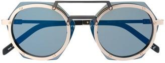 Hublot Eyewear hexagonal frame glasses
