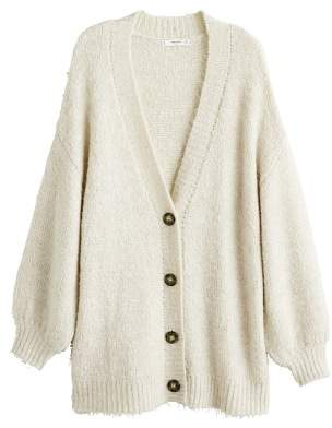MANGO Buttoned long cardigan