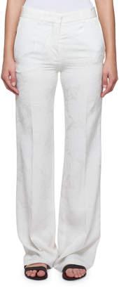 Victoria Beckham Wide-Leg Floral Cloque Pants