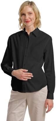 Carel Port Authority Women's Maternity Long Sleeve Easy Black/Light Stone
