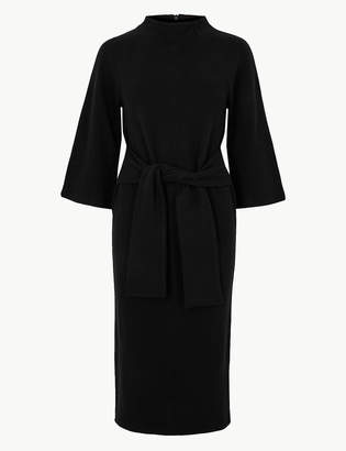 Marks and Spencer Tie Front 3/4 Sleeve Shift Dress