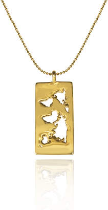 Cristina Ramella World Inspired Jewelry Gold Plated World Map Pendant Necklace