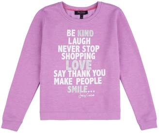 Juicy Couture Girls Graphic Sweat Pullover