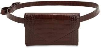 Micoli Cinta Croc Embossed Leather Belt Bag