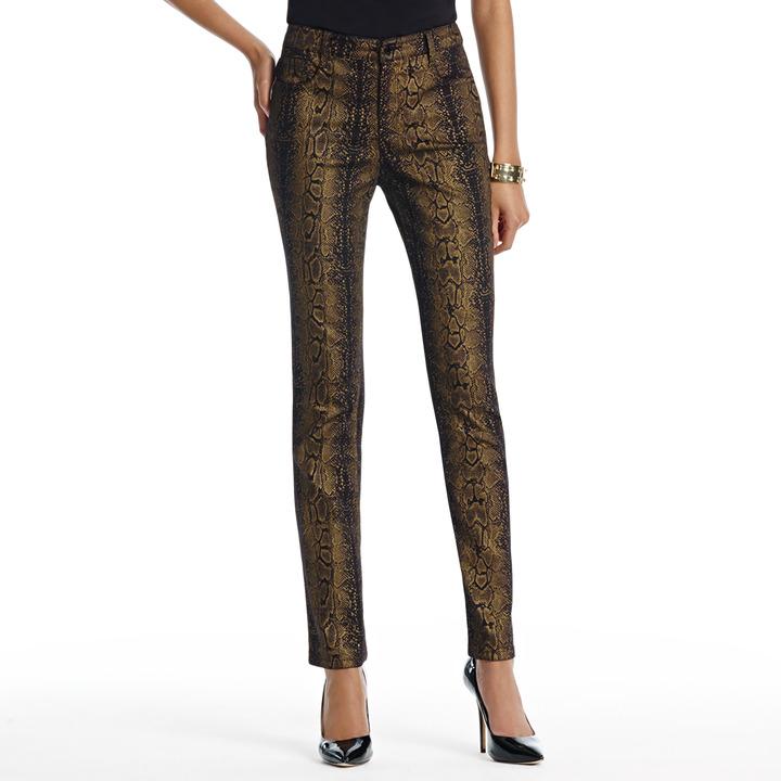 "Jones New York The Straight Leg Jean in Snake Print with 31"" Inseam"