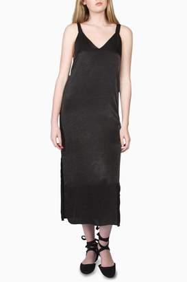 Final Touch Satin Slip Midi Dress