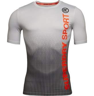 Superdry Mens Sports Athletic Short Sleeve T-Shirt Dissolve Mono Print