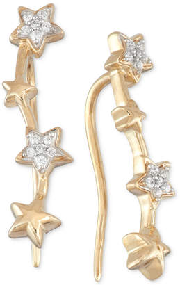 Wrapped in Love Diamond Multi Star Ear Crawlers (1/10 ct. t.w.) in 10k Gold, Created for Macy's