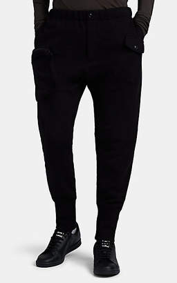 Yohji Yamamoto Men's Cotton French Terry Jogger Pants - Black