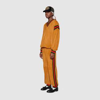 Gucci Dapper Dan suede sweatshirt