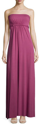 Rachel Pally Strapless Empire-Waist Caftan Maxi Dress, Vino, Plus Size $275 thestylecure.com