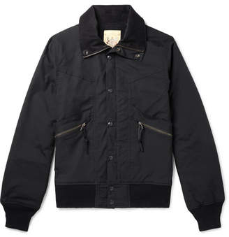 Monitaly Short Field Cotton-Shell Bomber Jacket