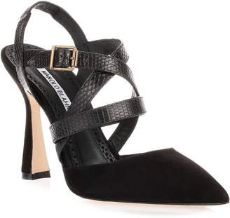 Manolo Blahnik Pitina black strappy sandal