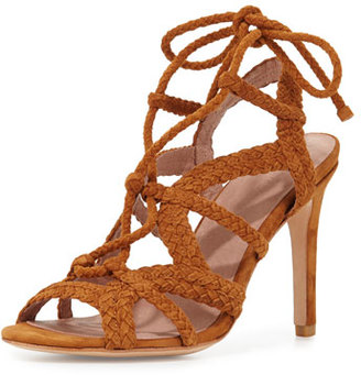 Joie Tonni Suede Strappy Sandal, Whiskey $325 thestylecure.com