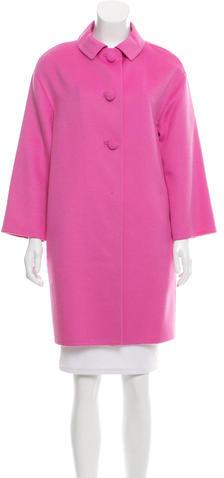 pradaPrada Wool & Rabbit Hair-Blend Coat