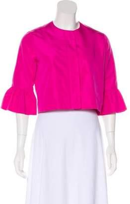 Ralph Lauren Black Label Silk Button-Up Jacket