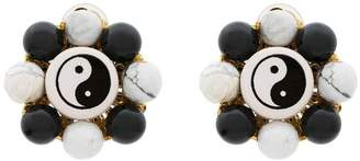 Venessa Arizaga Flower Ying Yang Earrings