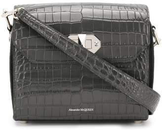 Alexander McQueen crocodile-effect shoulder bag