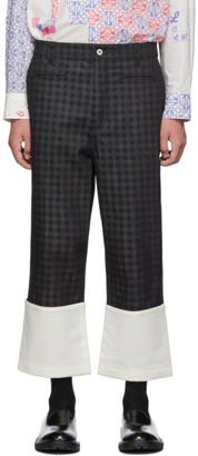 Loewe Black Check Fisherman Jeans