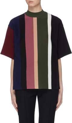 AKIRA NAKA Colourblock stripe knit top