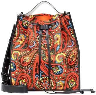 J.W.Anderson Drawstring paisley-printed shoulder bag
