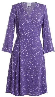 Bower - Bianca Dot Print Poplin Wrap Dress - Womens - Blue Multi