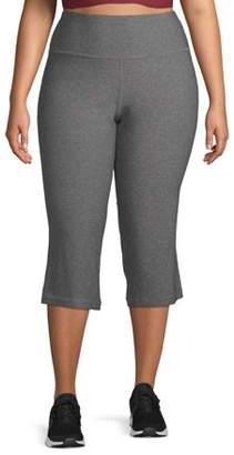 New York Laundry Women's Plus Size Active Tummy Control Capri