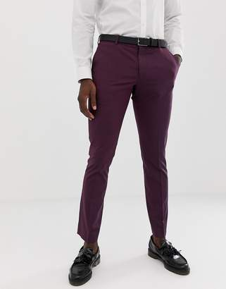 Selected Damson Suit PANTS In Skinny Fit