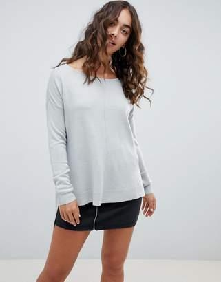 Noisy May Boatneck Lightweight Sweater
