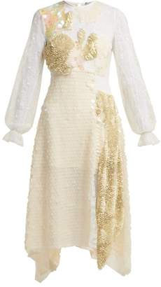 Preen by Thornton Bregazzi Cara Sequin Embellished Lace Dress - Womens - Ivory