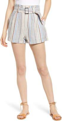 LIRA Maddie Stripe Linen & Cotton Shorts
