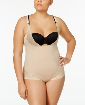 Maidenform Women's Firm Foundations Curvy Plus Size Firm Control Wear Your Own Bra Body Shaper DM1025