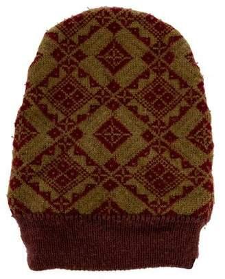 Dries Van Noten Patterned Knit Beanie