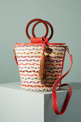 Anthropologie Gracelyn Straw Tote Bag