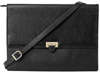 Aspinal of London City Document Case In Black Saffiano